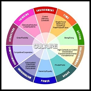 -                    Cultural Orientations Model:                    10 components of any culture, based on styles                   of interaction, thinking, and being