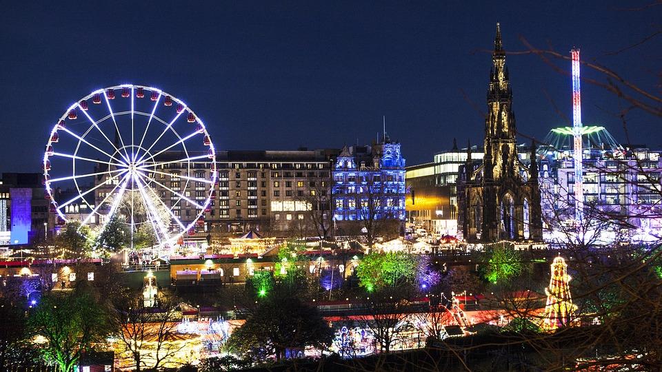Edinburgh The Ferris Wheel Rides Amusement Park
