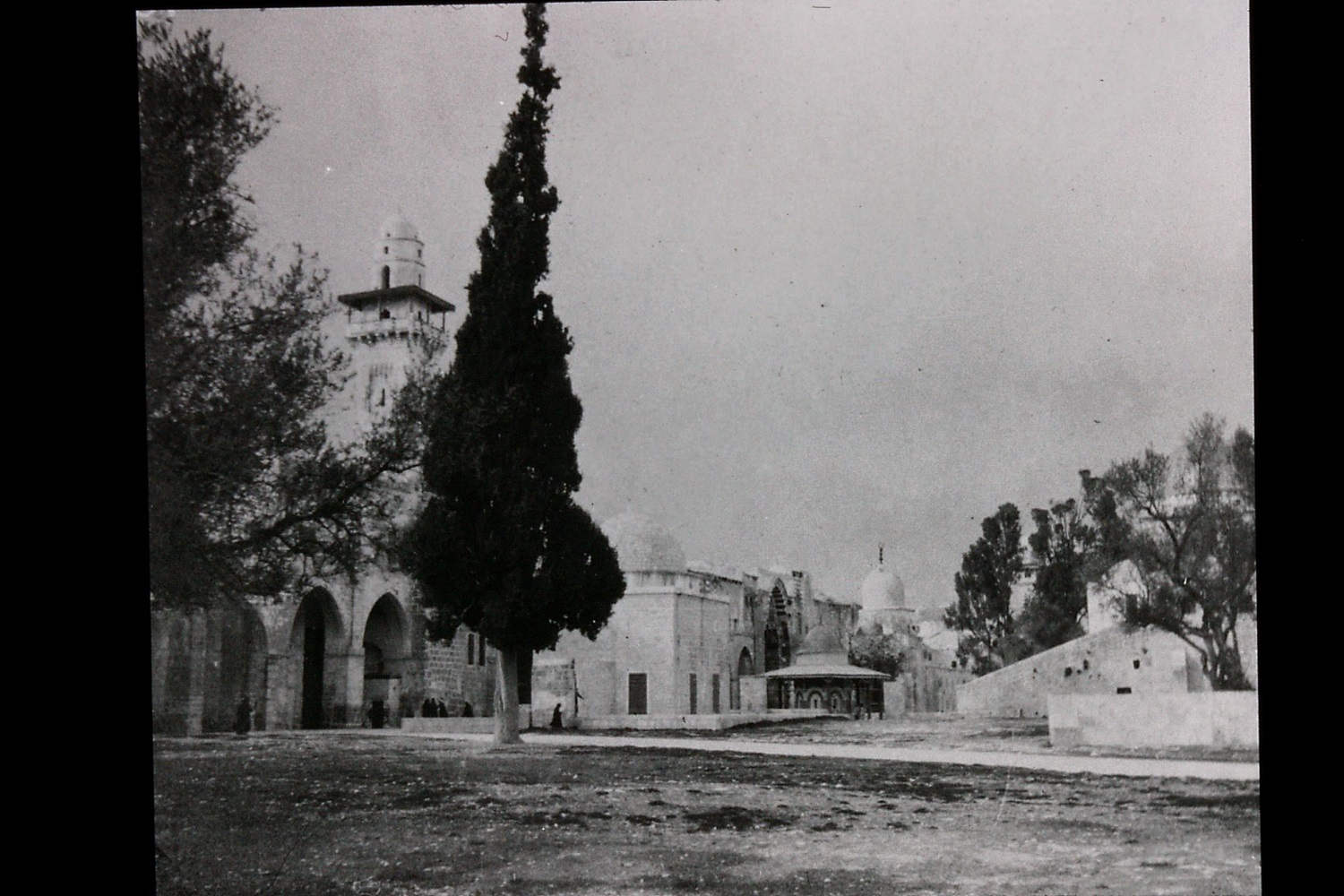 Gertrude Bell's photograph of general view of Haram esh-Sharif (Temple Mount), December 1899. Catalogue number A54.