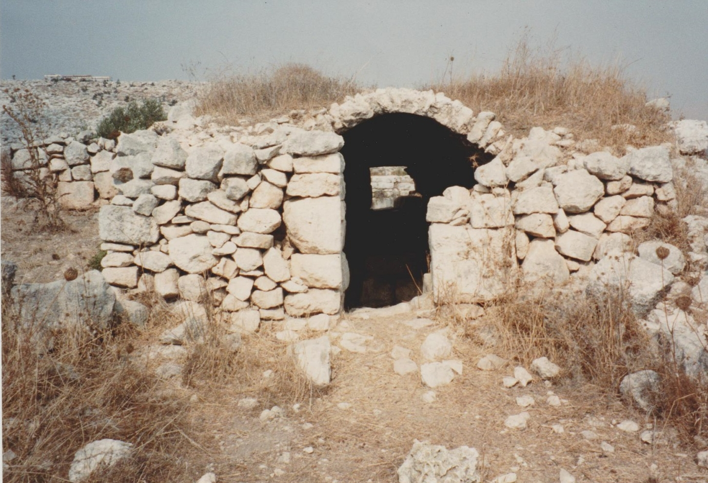 This small building has been interpreted as a Byzantine church or monastery. All pottery and tegulae (small tiles) visible on the surface in 1990 were certainly of Byzantine date. Credit: Eleanor Scott
