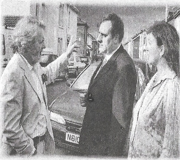 Rare photograph of Hancock, David and me together. In Fratton. Not a reconstruction.