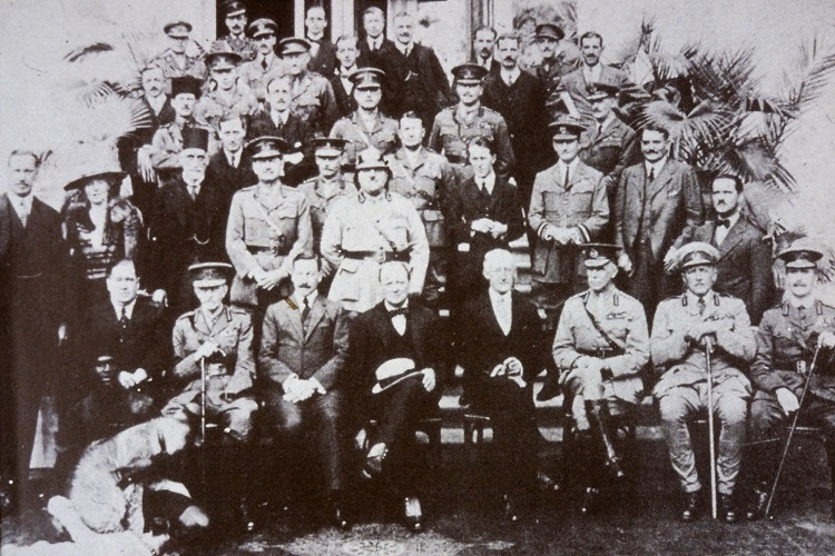 Gertrude Bell in 1921 - the only woman at the Cairo Conference
