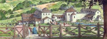 Idyllic image of Great Witcombe Roman villa (Credit: Historic England)