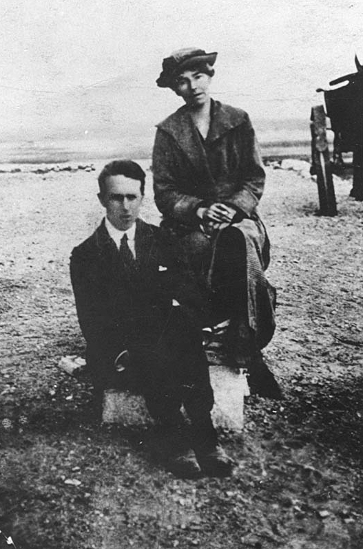 T E Lawrence and Gertrude Bell - Bell with the familiar cigarette in hand