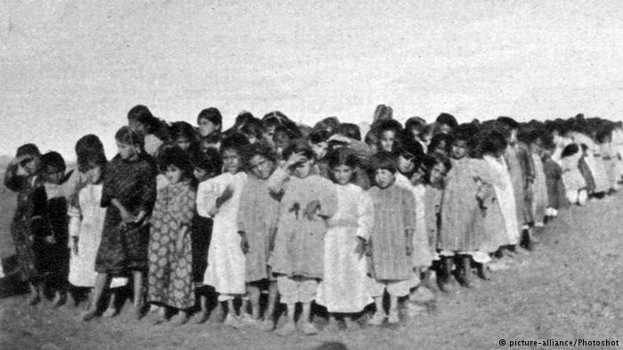 Armenian girls during 'resettlement', 1915. Source: Deutsche Welle (DW); Credit: alliance / Photoshot / (UPPA)