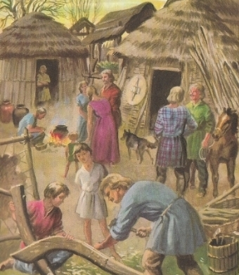 Couldn't resist this Ladybird book image of Julius Caesar's Britain ... so who's married to who?