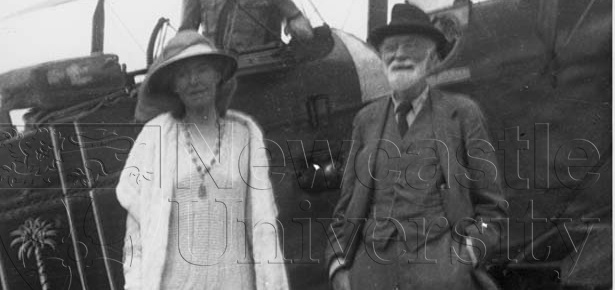 Gertrude Bell and her father Sir Hugh Bell (Credit: Getrude Bell Archive, Personalia C22)