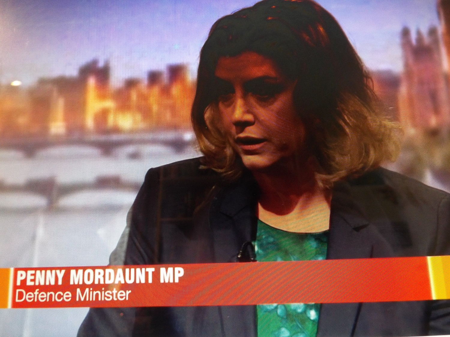 Mordaunt on the Andrew Marr show, as a Defence Minister - she is now elevated to Secretary of State