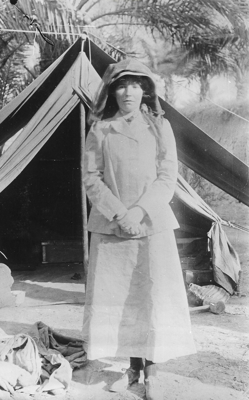 Gertrude Bell, outside her tent, Middle East. Credit: Gertrude Bell Archive, Newcastle University