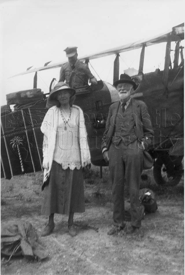 Gertrude Bell with her father, Hugh Bell c 1922. Credit: Gertrude Bell Archive, Newcastle University