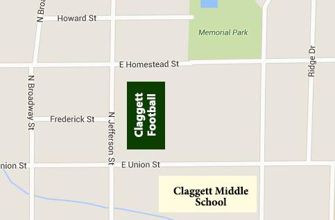 Home Claggett Field, Memorial Stadium,    460 North Jefferson St., Medina, OH 44256