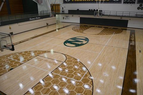 Re-conditioned Medina High School Richard H. Clevidence Gym Floor