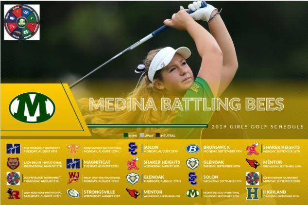 2019 Medina Girls Golf Schedule
