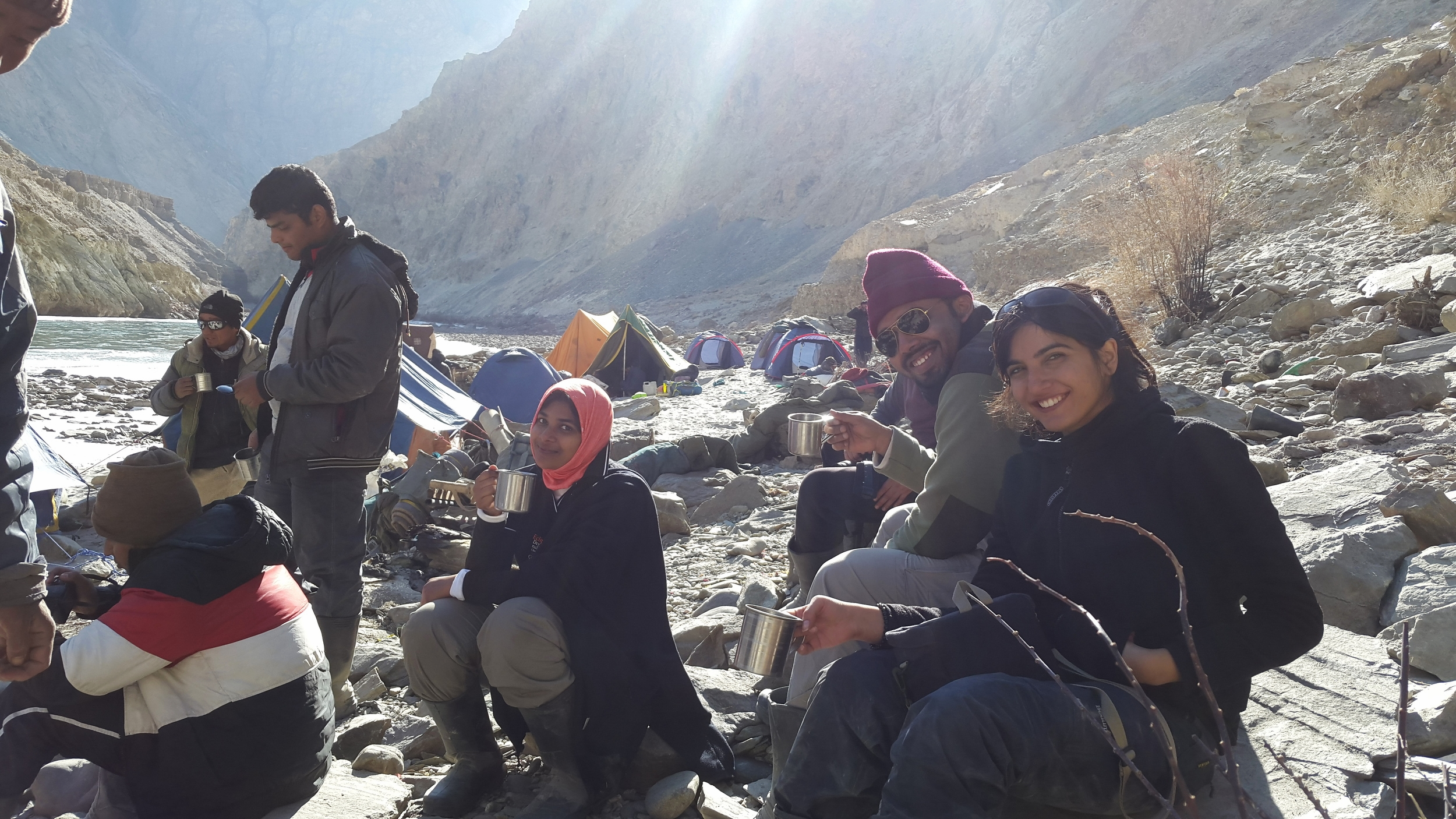 A steaming cup of Chai at the campsite nearing our chadar trek campsite. Life's best pleasures.