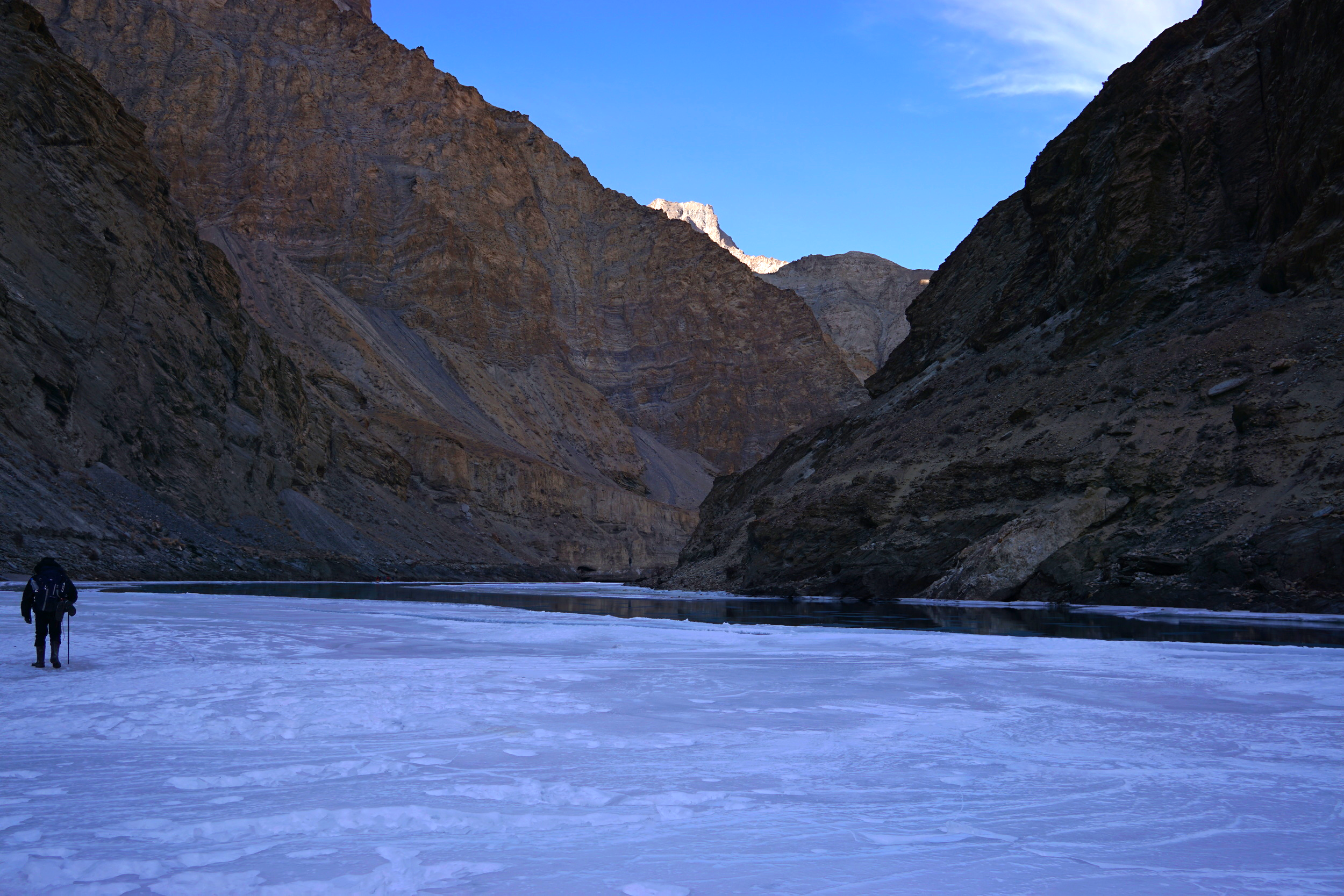 Darkness and desolation. I could get used to this during the chadar trek in ladakh