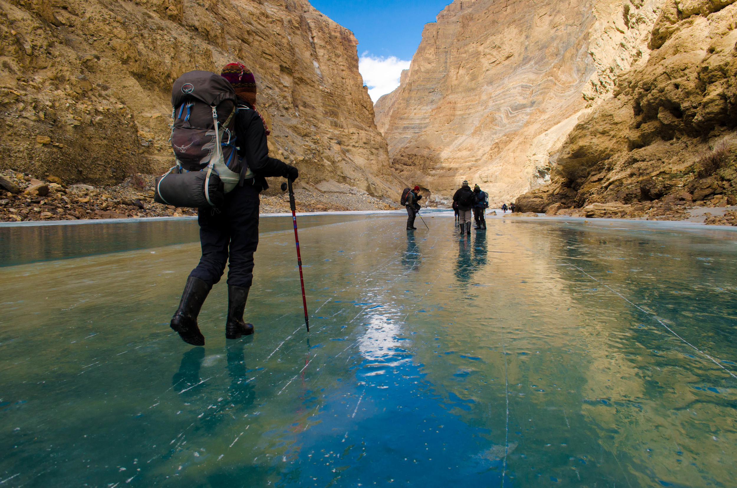 The reflections during the chadar trek in ladakh was absolutely heavenly. PC: Raunak