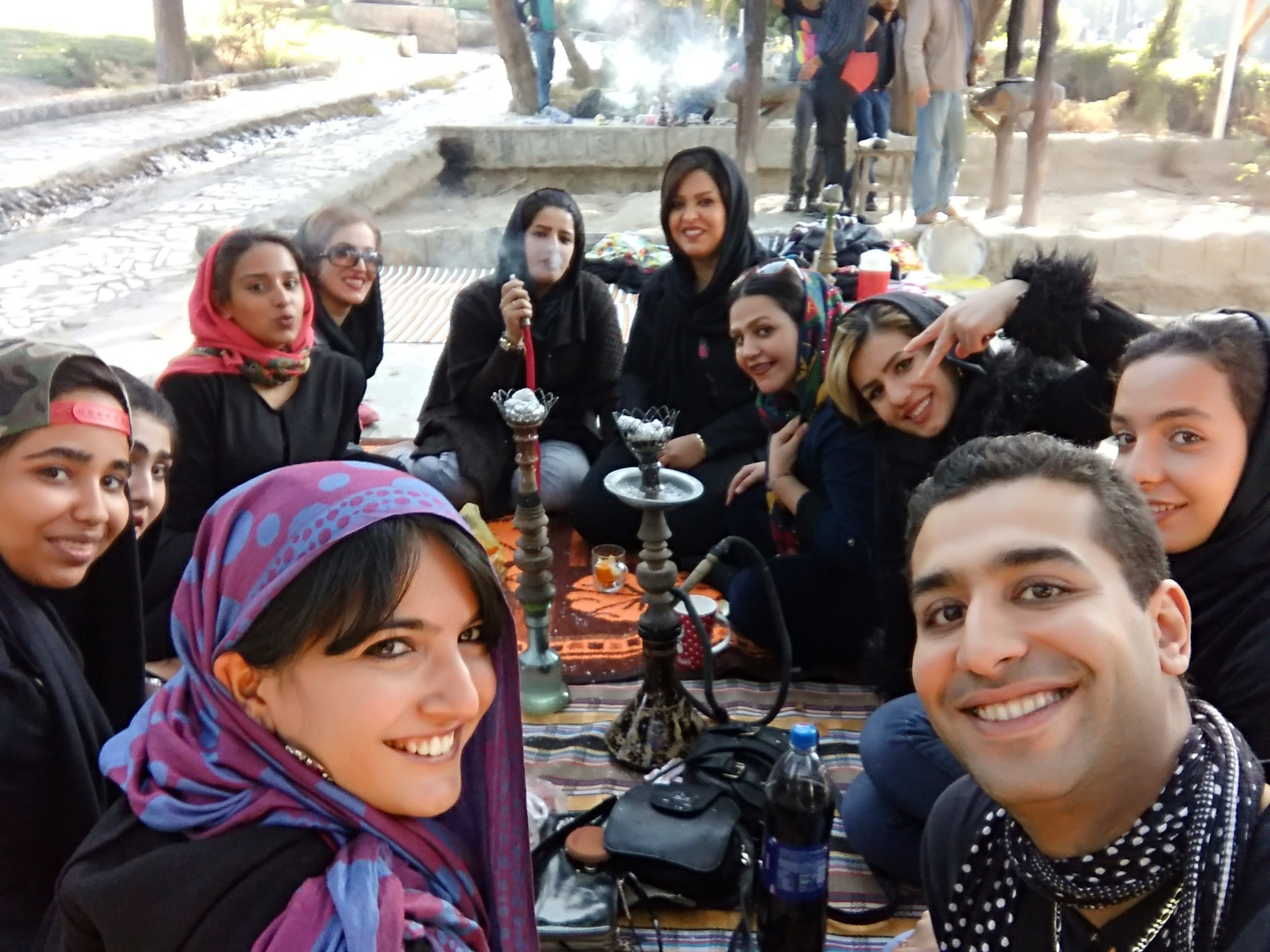 Backpacking in Iran and being invited for tea in Soffe Mountain