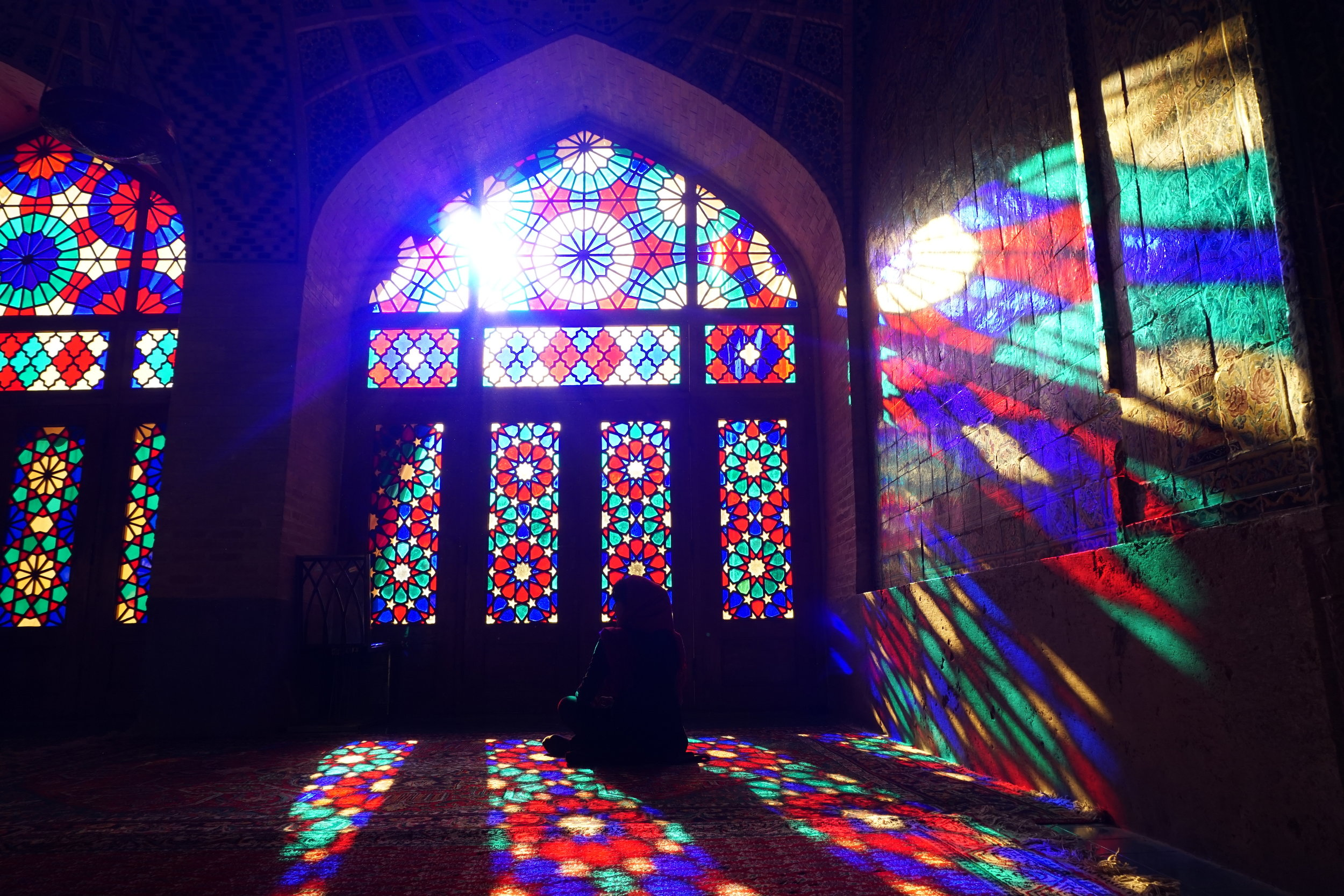 The stunning Nasir Ol Mosque - this is a place where truly light and worship intertwin