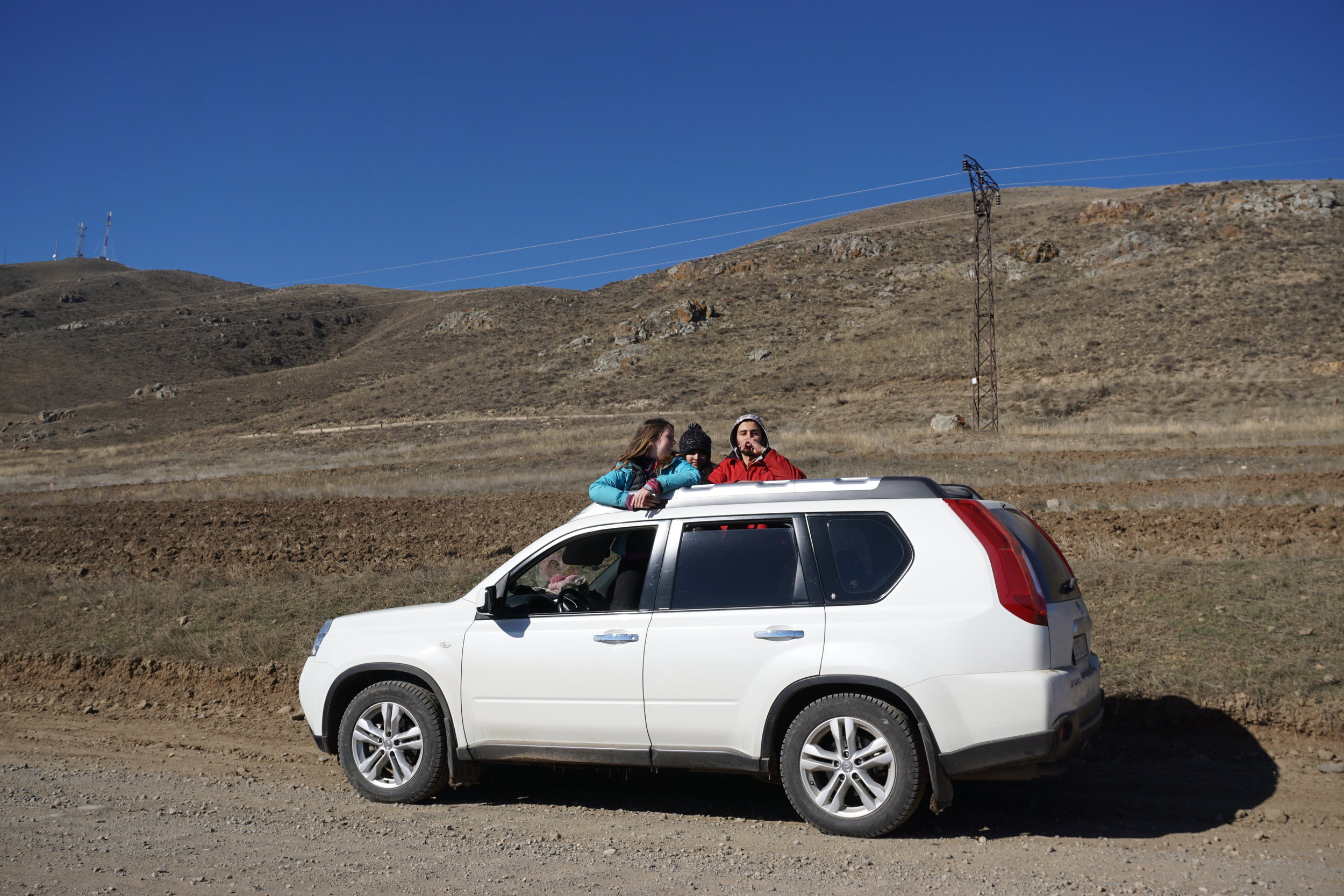A Nissan x-trail that we rented for a week in armenia