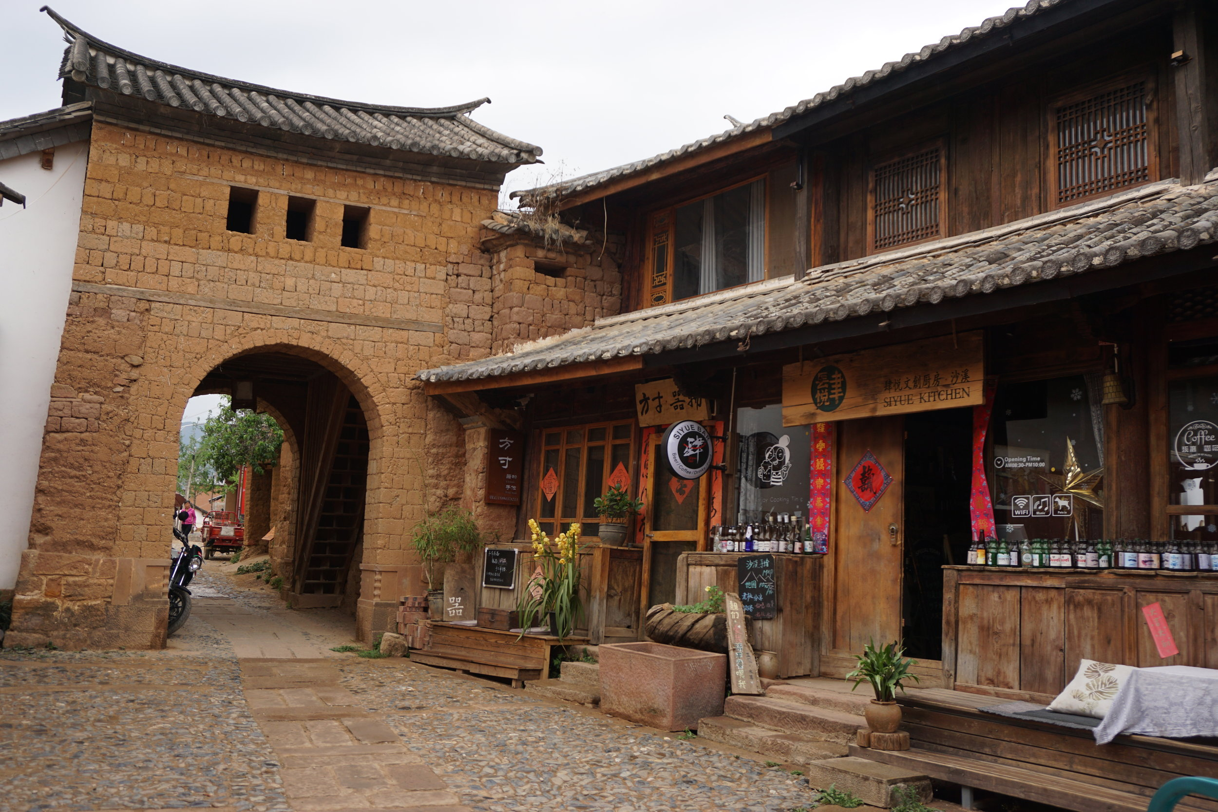 Visiting off the beaten path places in china, such as shaxi, a tea horse trade route