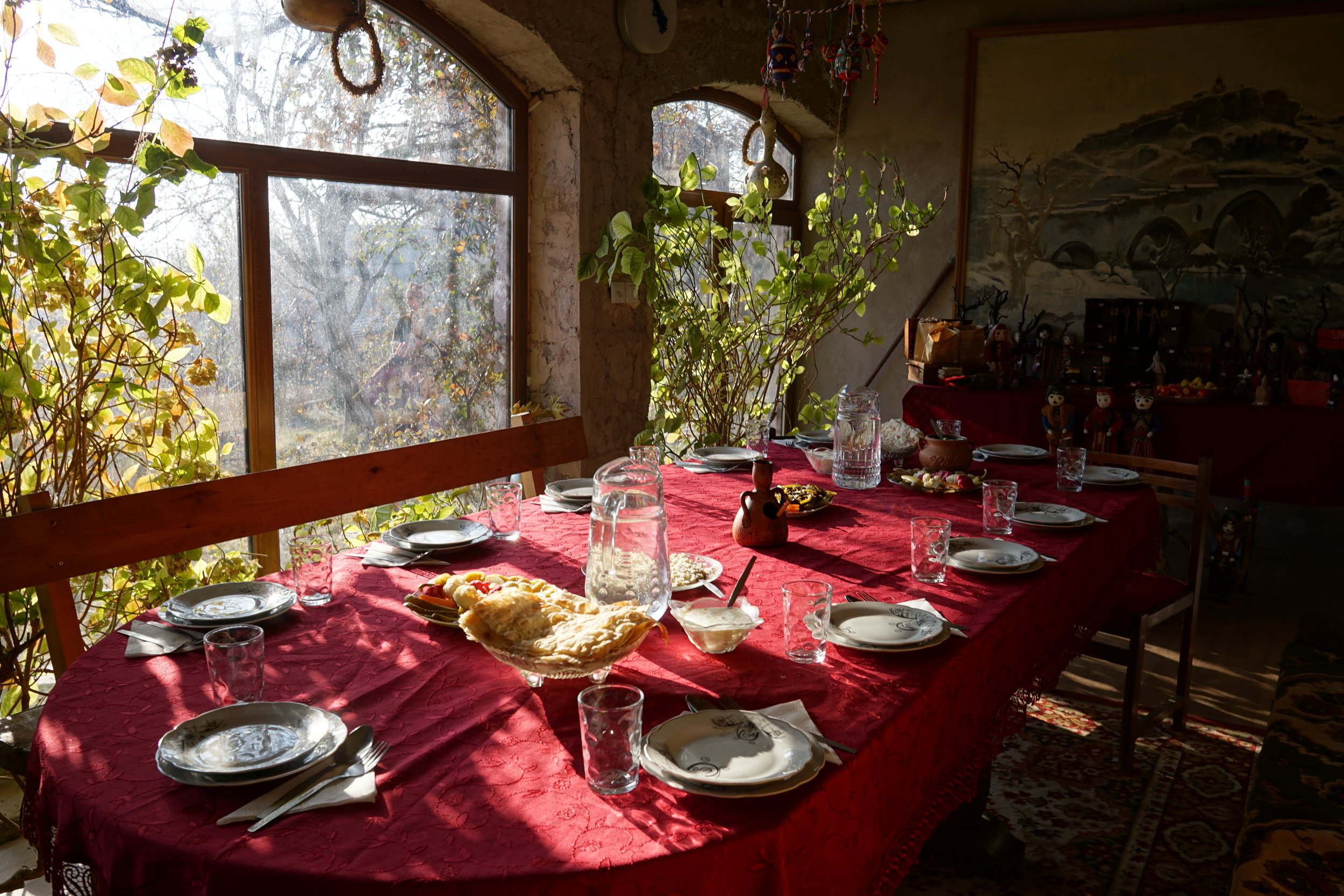 Feasting in Armenia cultural village, perhaps the best places to travel in January or December