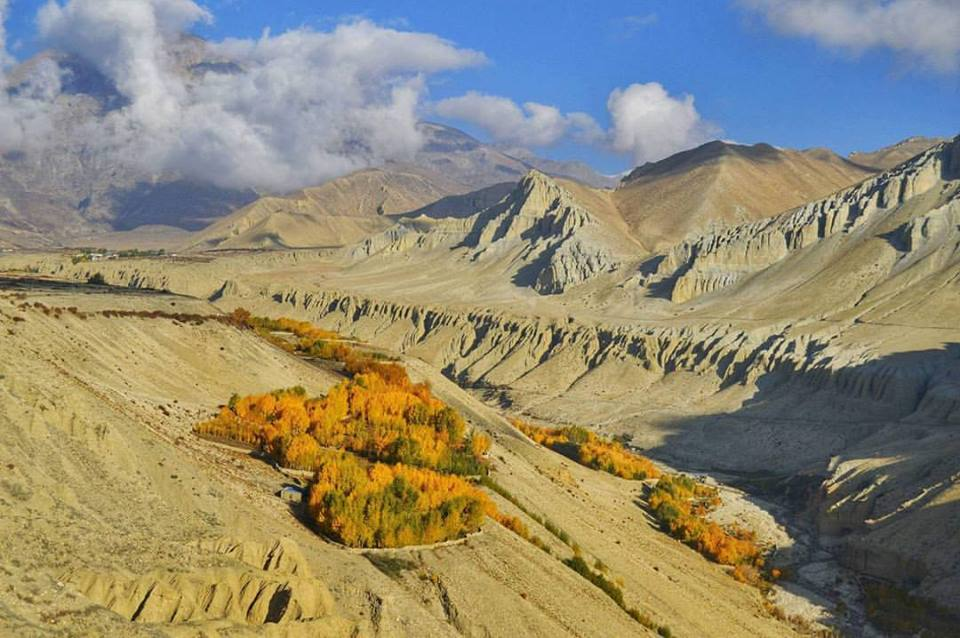 The barren landscapes of the upper mustang region. Pic credits: Bikram karki