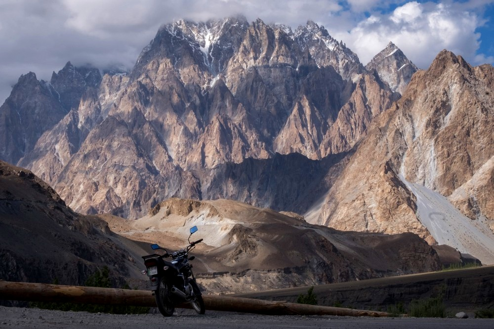 Bike through the highest highway in the world, the Karakoram Highway. PC: Kit Chan
