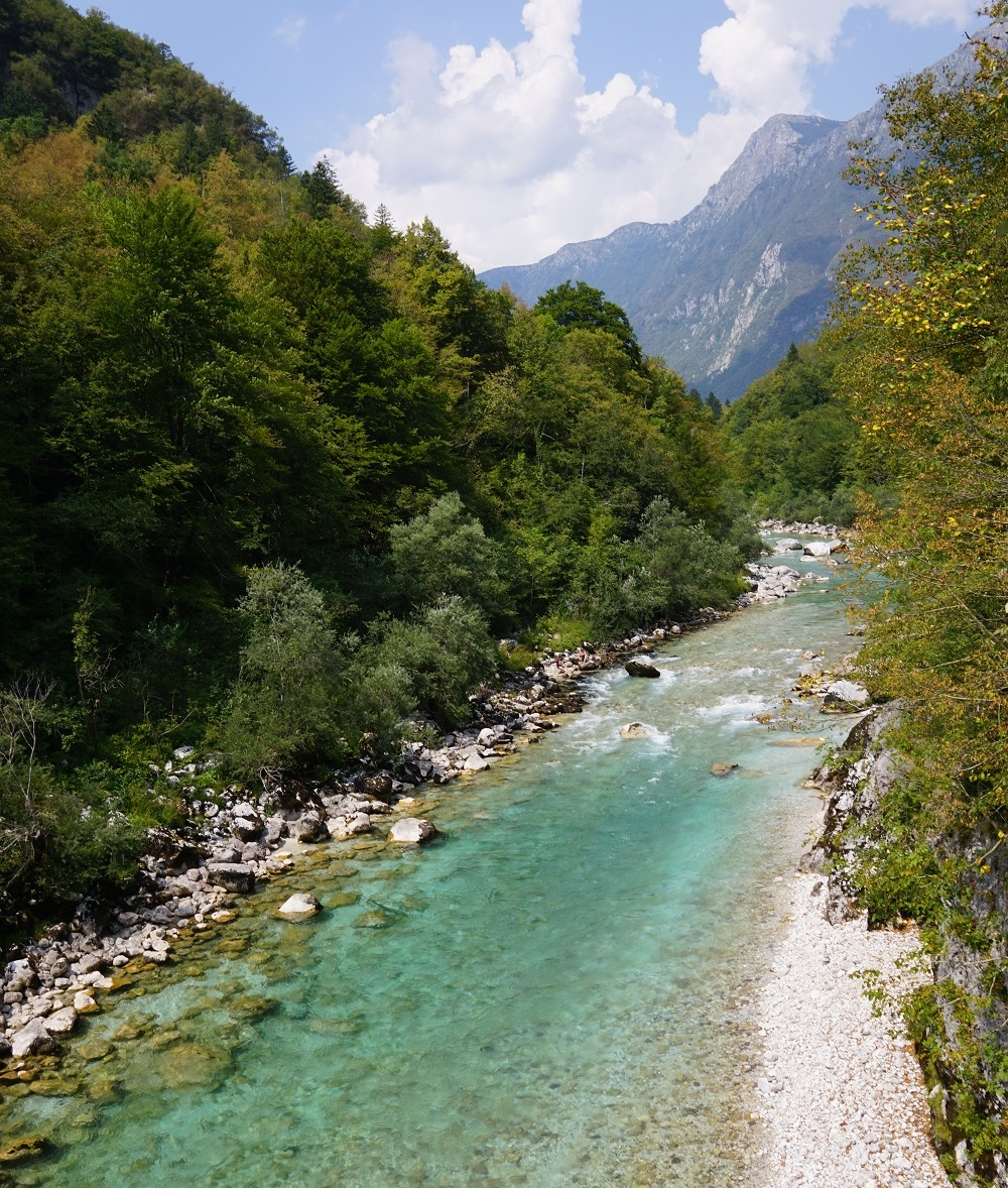 There's nothing quite as calming and beautiful like the Soca river in Slovenia
