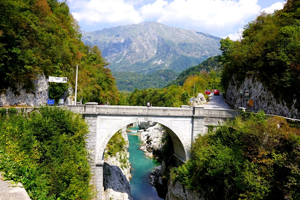 The Napolean Bridge in Kobarid, Slovenia