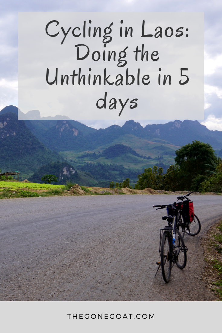 Cycling in Laos was such a surreal experience. With zero preparation, we stepped foot in Laos to bicycle tour from North to South in 5 days. #Laos #Asia #Travel #AsiaTravel #TravelDestinations #Cycling #BicycleTouring #SlowTravel