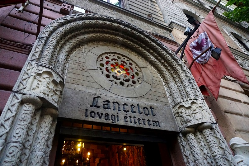 A medieval dining experience in Budapest at the Sir Lancelot restaurant.