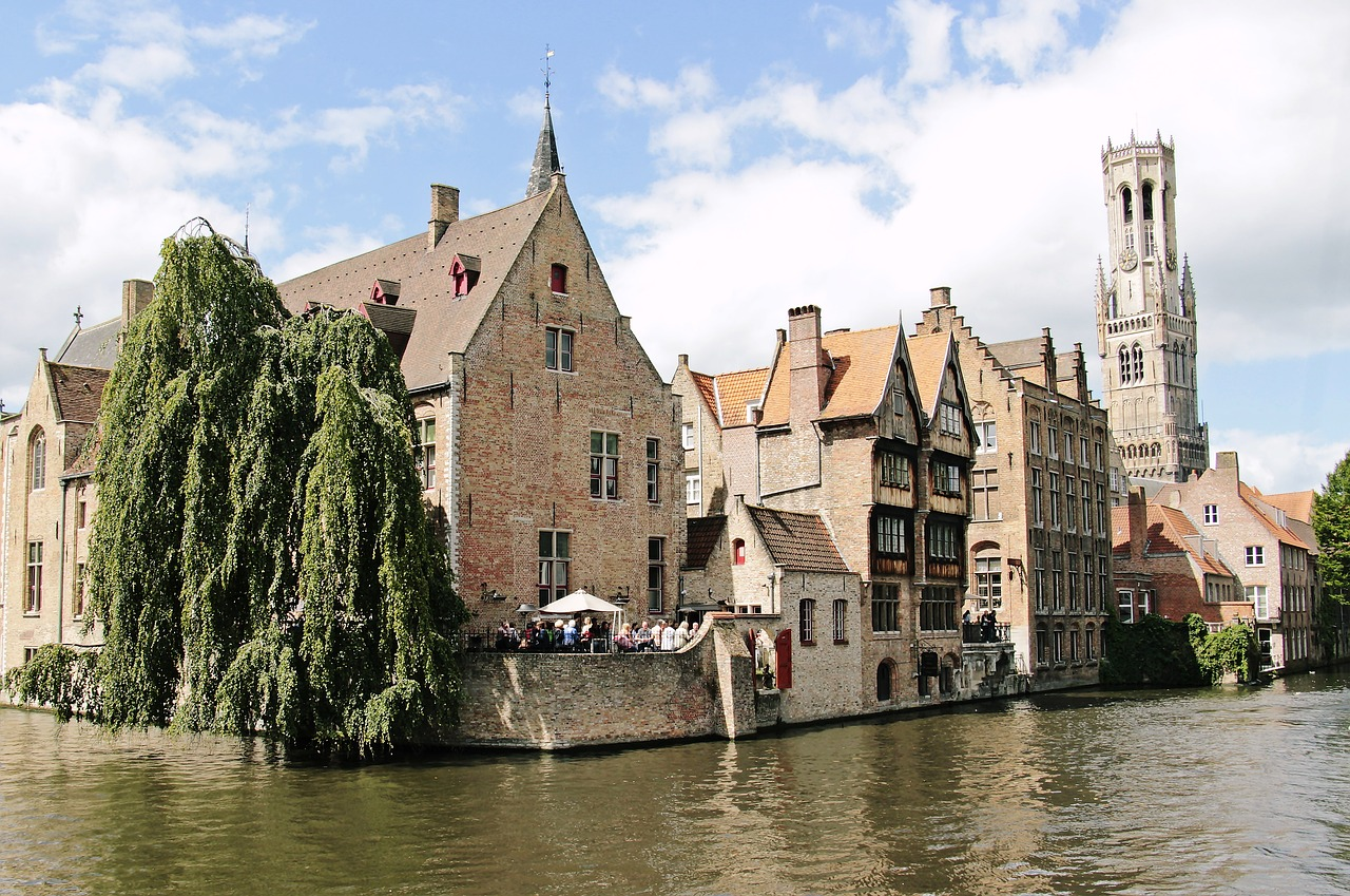 The lovely canals in Bruges.