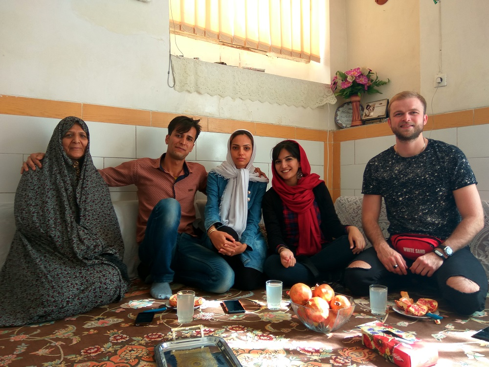 we were graciously welcomed to their house and they fed us pomegranates and a local noodle, eggplant dish.