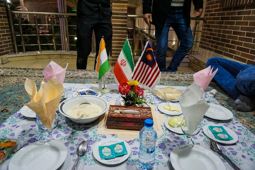 Invited to dinner with two turkish brothers and the restaurant owner couldn't figure out where we were from so decided to place three flags - iran, india and malaysia on the table. it truly felt like we were important diplomats.