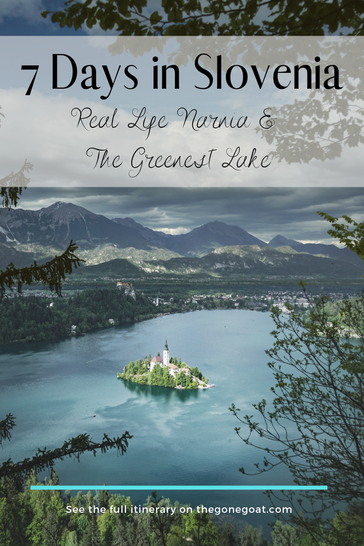 The lesser known destinations of Europe have a way of taking you by surprise with its whimsical quaint towns. Here's the ultimate 7 day Slovenia itinerary covering the greenest places in the country. #SoloDestinations #TravelDestinations #Europe #Slovenia #LakeBled #SocaValley #Itinerary #Mountains #Balkans