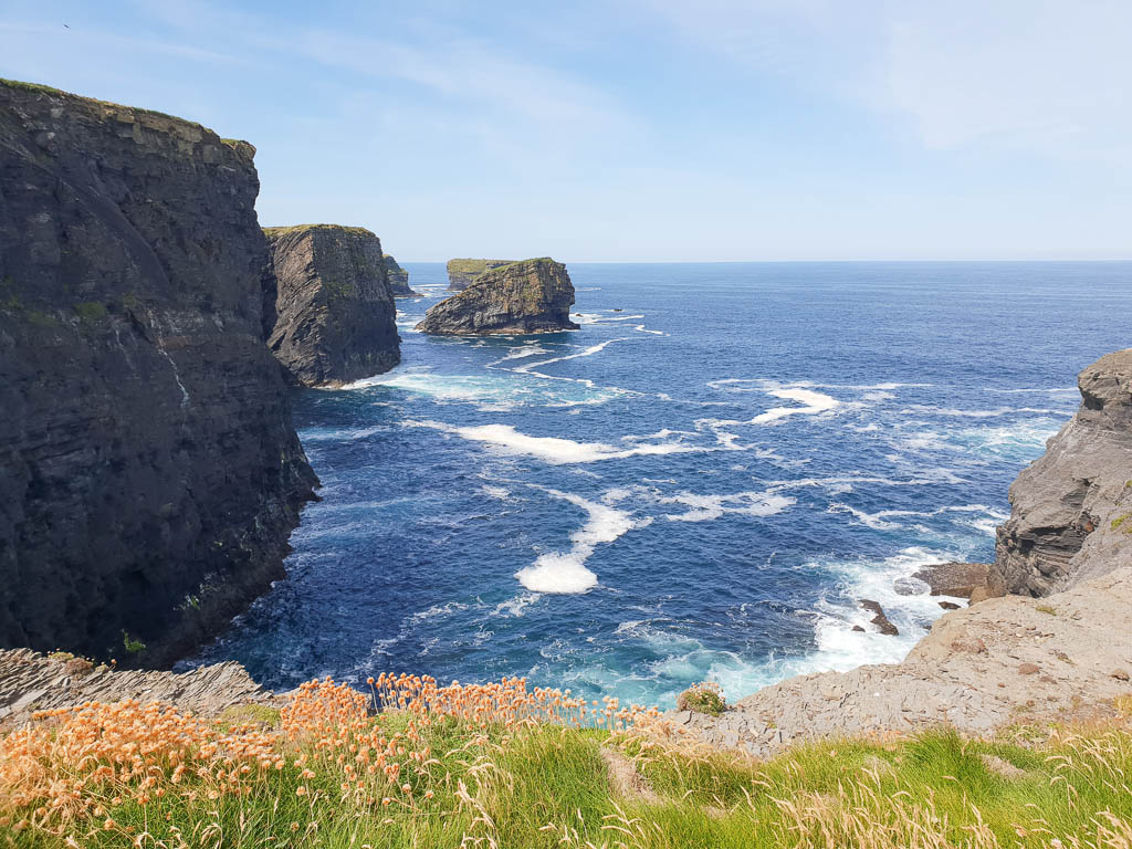 One of Kilkee's most beautiful features are the miles of cliffs traveling along the Irish coast.