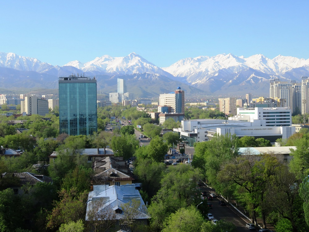One of the things Ellis likes about Almaty are its parks that are full with people in summer.
