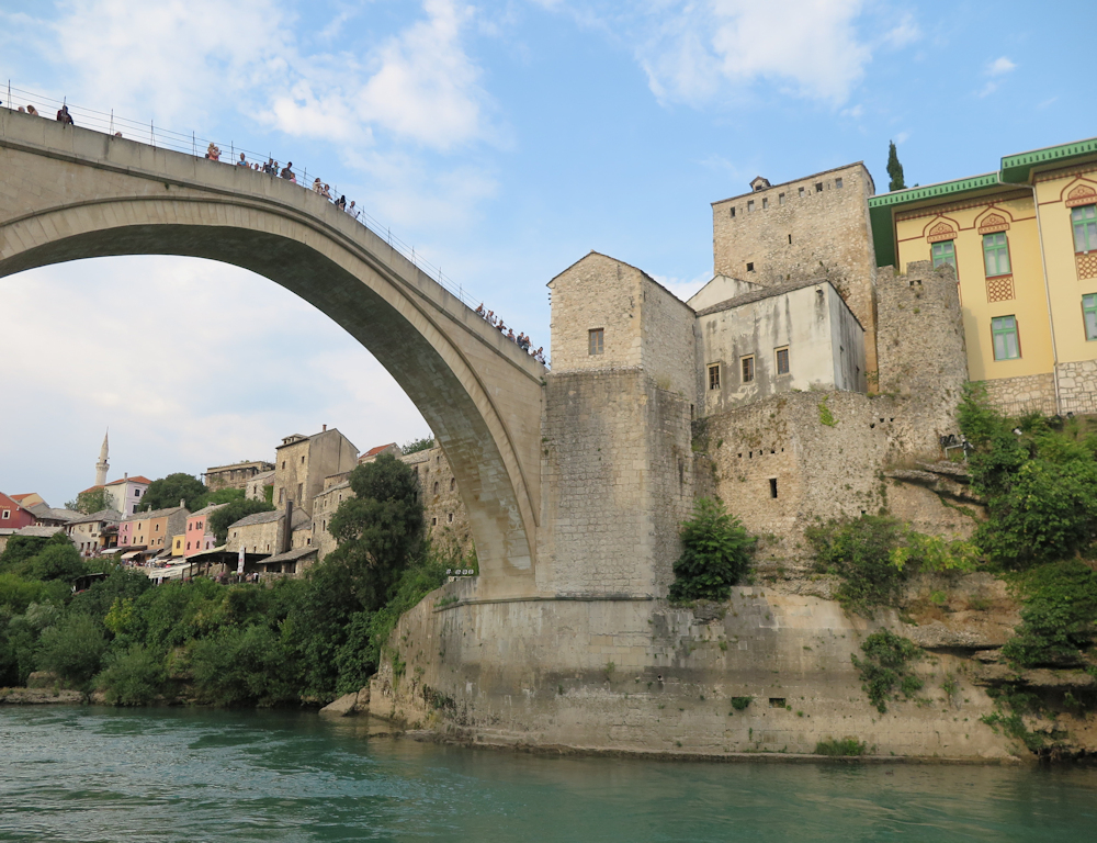 Visit the iconic Stari Most bridge and watch the daring divers leap into impossibly shallow waters.