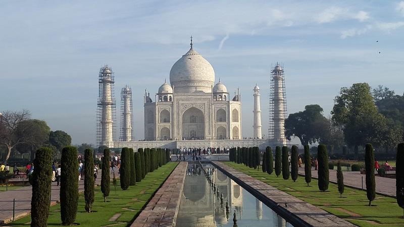 The iconic Taj Mahal in Delhi, Agra