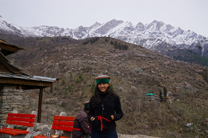 My kinnauri cap in the Himalayas