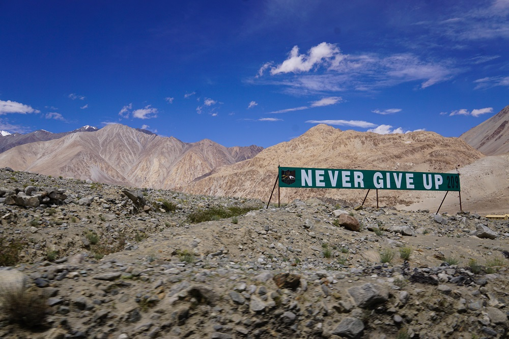Just the little reminder we need: to never give up no matter the situation.