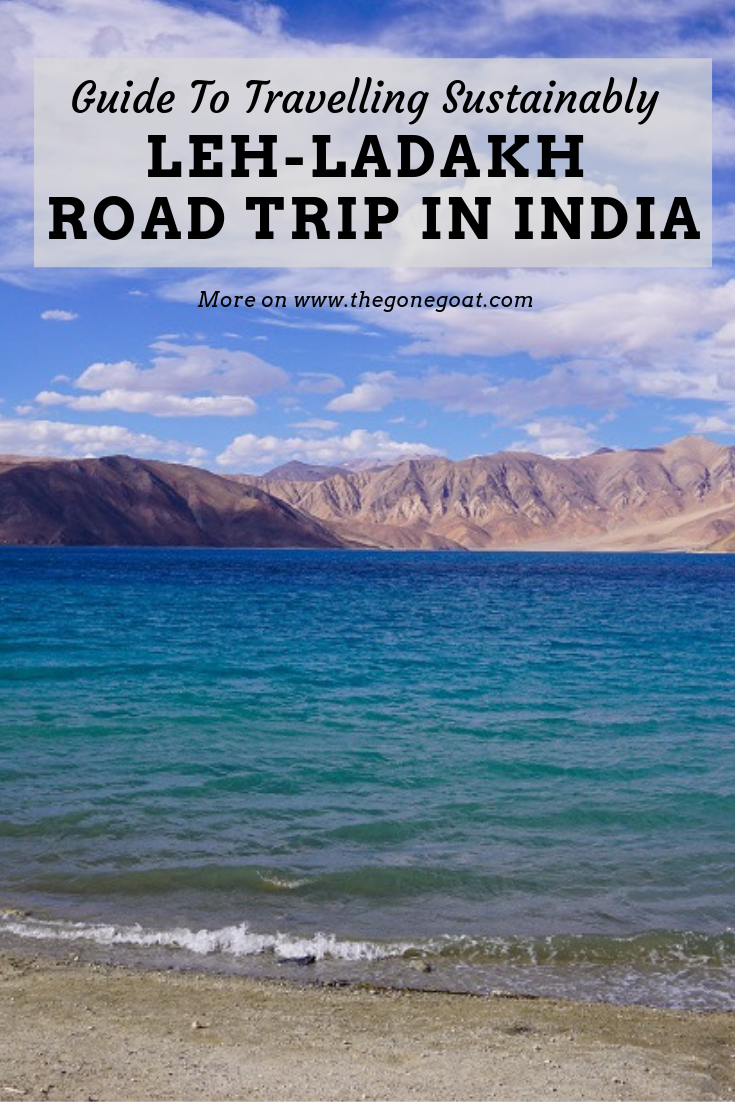It is hard to dismiss what is becoming of Leh Ladakh on a bike/road trip. The moonscape landscapes of Leh in Ladakh is at its most fragile state. Here's a guide for a bike or road trip to Ladakh and how to do it sustainably.  #Ladakh #RoadTrip #India #Adventure #Himalayas #SustainableTravel #Cycling #LehLadakh #Travel #TravelDestinations #IndiaTravel