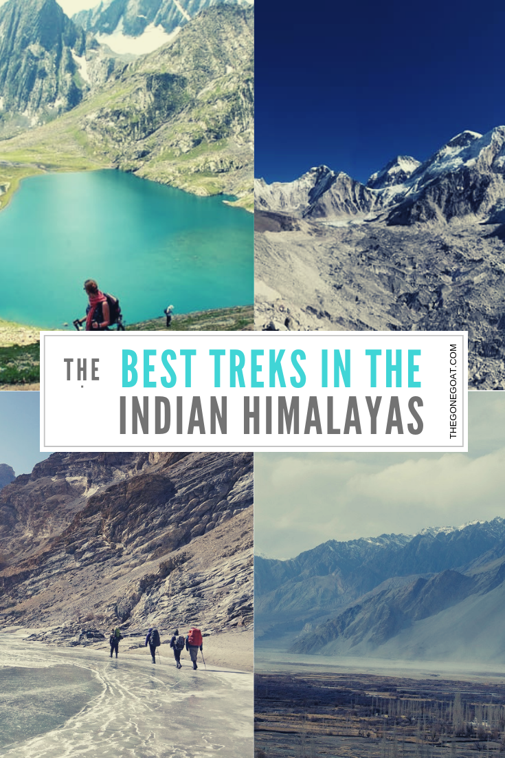A trek in the Indian mountains is affordable, somewhat convenient and people-free sometimes if you choose the right time to travel in the Indian Himalayas. From Ladakh to Uttarakhand and Sikkim, here are the best trekking places to hike in India to explore, write, or do nothing. #IndianHimalayas #Trekking #Hiking #Asia #India #SoloDestinations #Outdoors #Treks #Adventure