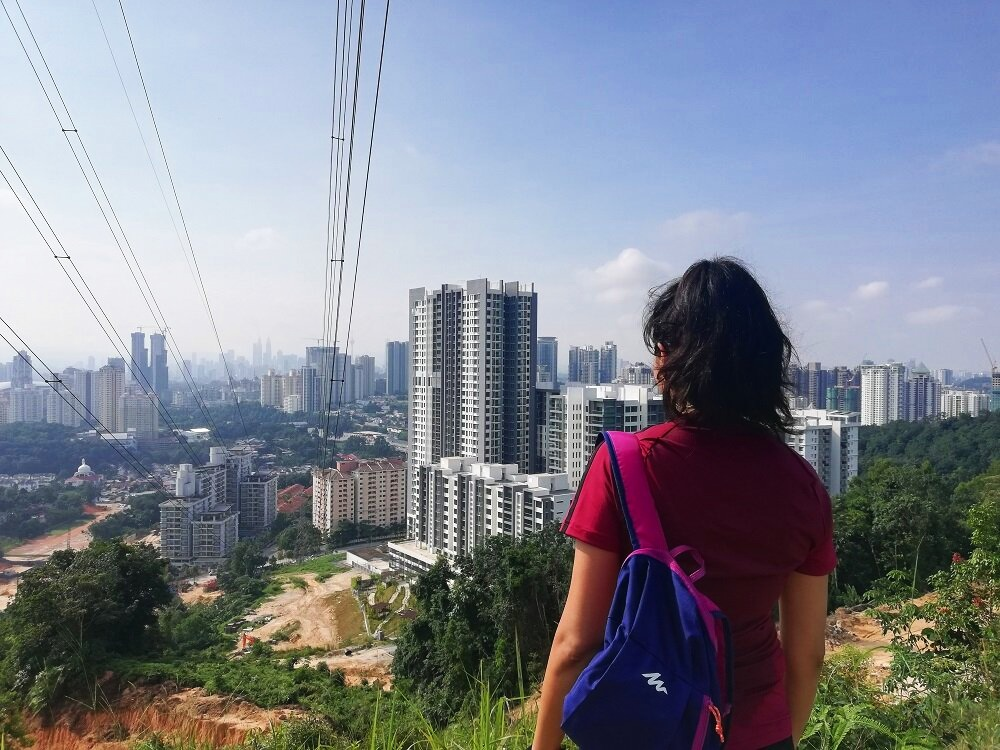 Taken during one of my hikes in Malaysia where you can the usual forest clearing all in the way for new development.