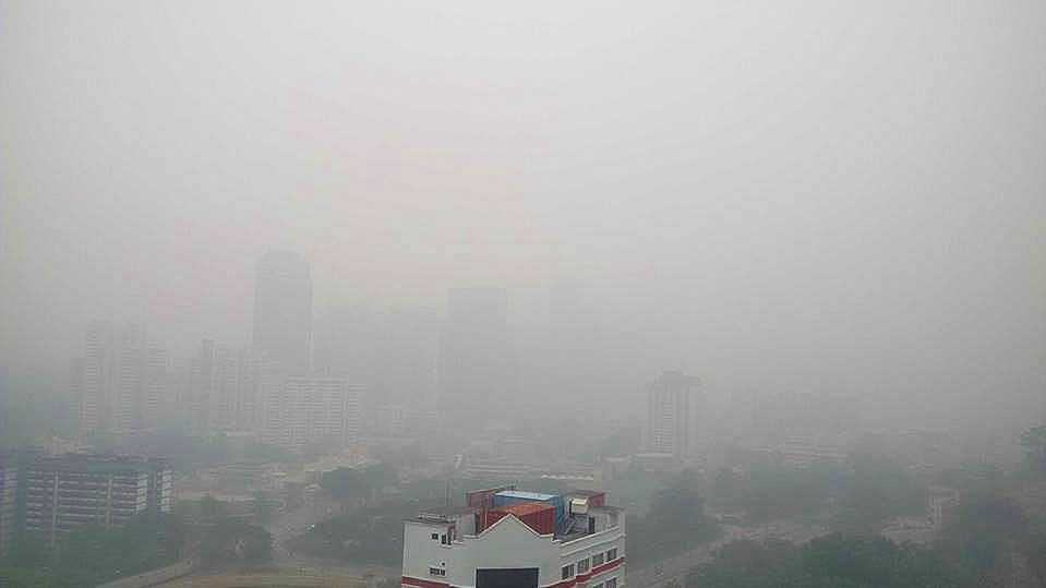 The terrible haze situation in 2015 taken from my balcony.