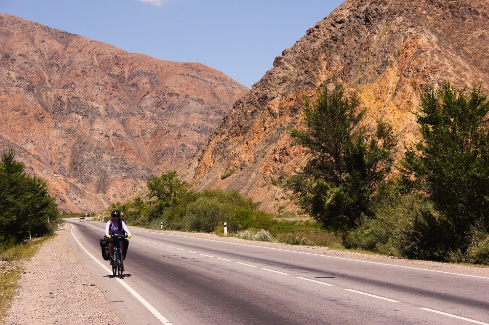 Rocky, and harsh mountains stood at every bend making our ride quite a scenic one.
