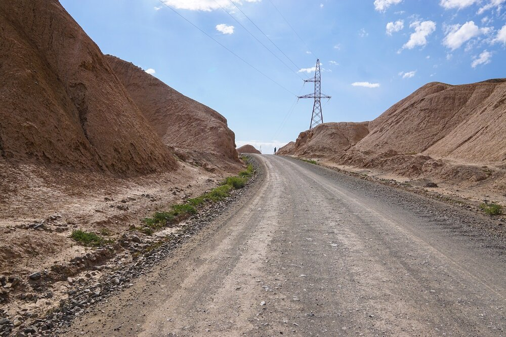 Washboard roads in Kyrgyzstan; not a fan!