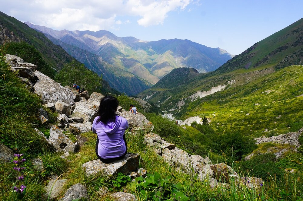 Taking in the views at the Ala Archa National Park