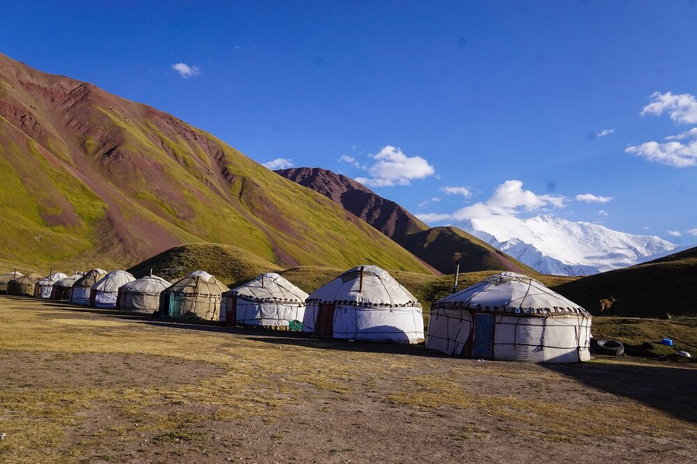 Summer between June and August is the best time to go trekking in Kyrgyzstan.