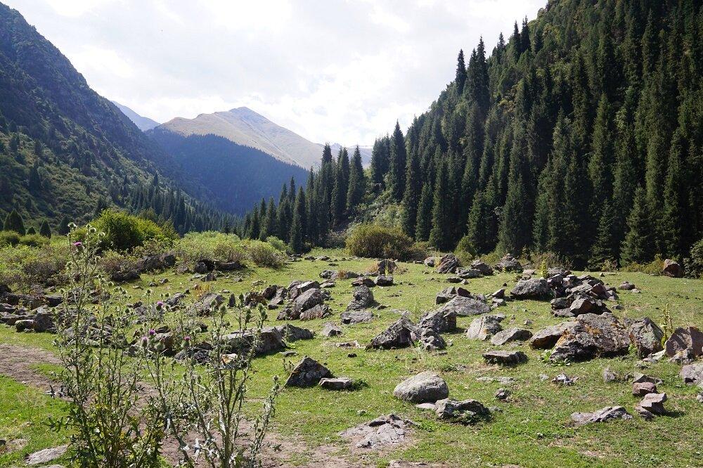 Jyrgalan Valley, a once soviet mining village.